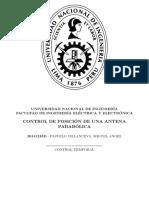 Control de una antena parabólica