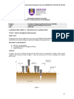 Manufacturing Technology Ziyadi Lab Sheet 564
