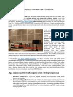 Informasi Jasa Laser Cutting Tangerang di Indonesia