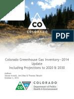 Colorado Greenhouse Gas Inventory 2014