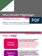HAJJ (Greater Pilgrimage)