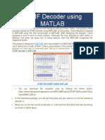 DTMF Decoder Using MATLAB