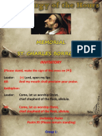 Saturday - Memorial - St. Charles Borromeo