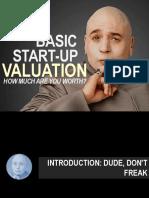 basic start-up valuation