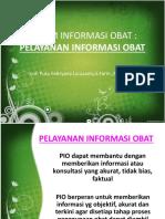 Sistem Informasi Obat-Pelayanan Informasi Obat
