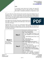 OET Preparation Plan - OET Intensive Training