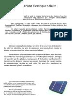 Conversion Electrique Solaire