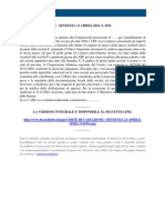Fisco e Diritto - Corte Di Cassazione n 9476 2010