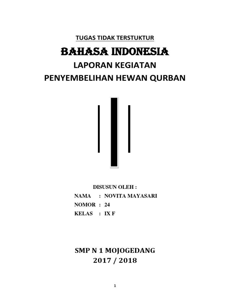 Laporan Kegiatan Penyembelihan Hewan Qurban 8 Novita