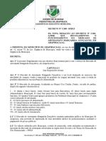 Decreto n-¦ 2.348 B de 2013 - D+í nova reda+º+úo do Decreto n-¦ 2.181 A de 2010 que regulamentou o funcionamento do Mercado do Artesanato