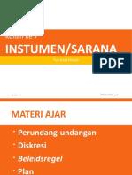 Kuliah 7 (2016) Instrumen-Sarana Pemerintah