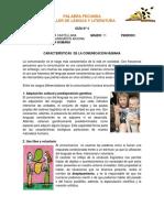 GUÍA N°4 CARACTERÍSTICAS DE LA COMUNICACIÓN HUMANA