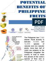 POTENTIAL BENEFITS OF PHILIPPINE FRUITS
