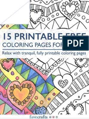 15 Free Printable Adult Coloring Pages Pdf Coloring Book Books