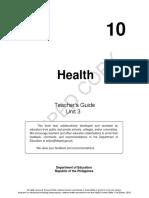 Grade 10 Tg Mapeh-health Quarter 3