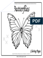 Butterflies Coloring Pages 01