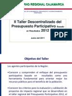 II Taller Presupuesto Participativo 2012