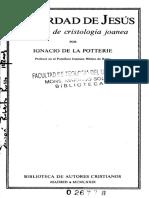 De La Potterie, La Verdad de Jesús (1979)