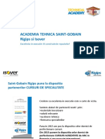 Prezentare Academia Tehnica Saint- Gobain Cursuri Calificare Montator Gips-carton 2015