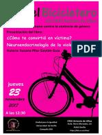 """En el Bicicletero del CRAI... presentación del libro """"¿Cómo te convirtió en víctima?"""