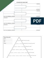Vocabulary Word Map, Story Pyramid