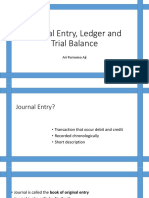Journal, Ledger and Trial Balance