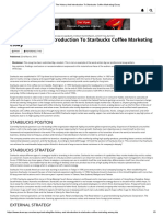 The History and Introduction to Starbucks Coffee Marketing