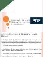 Reduccion de Los Oxidos Metalicos 2
