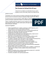 FACT SHEET Student Fair Access to School Act of 2017