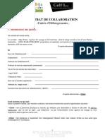Contrat de Collaboration _Hotels