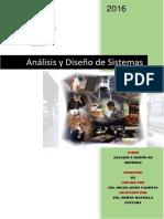 Modulo de Analisis y Diseño de Sistemas