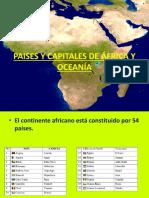 3° PAISES Y CAPITALES DE ÁFRICA Y OCEANÍA