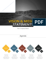 Vision and Mission Statements Complete Powerpoint Deck With Slides