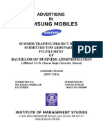 Final Report Samsung Mobiles