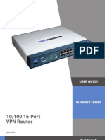 RV016 Port VPN Router / Load Balance 7 Wan In - Manual