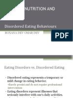 Disordered Eating vs Eating Disorder