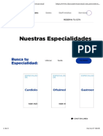 Especialidades medicas en clinica internacional