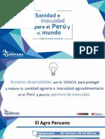 Presentación de Jorge Barrenechea, jefe del SENASA