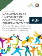 Toronto 2015 Normativa Para Uniformes de Competencia y Equipamiento Deportivo