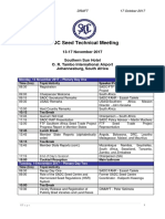 AGENDA - SADC Seed Technical Meeting - Nov13-17, 2017