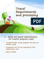 Travel Requirements and Processing