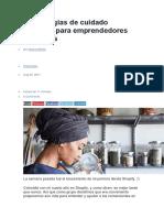 9 Estrategias de Cuidado Personal Para Emprendedores Ocupados