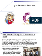 Indian Railways-Lifeline of the Mass_project