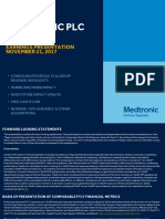 Medtronic Earnings Presentation FY18Q2 FINAL