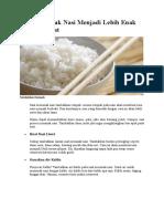 Tips Memasak Nasi Menjadi Lebih Enak Dan Nikmat