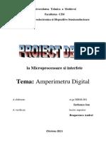 Lucrarea de an Amperimetru Digital