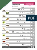Kids Meals Spelling Test