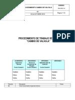 PRO-HSEC- 01 Cambio de Válvula