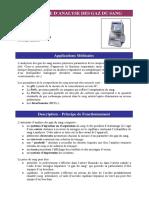 Automate d Analyse Des Gaz Du Sang