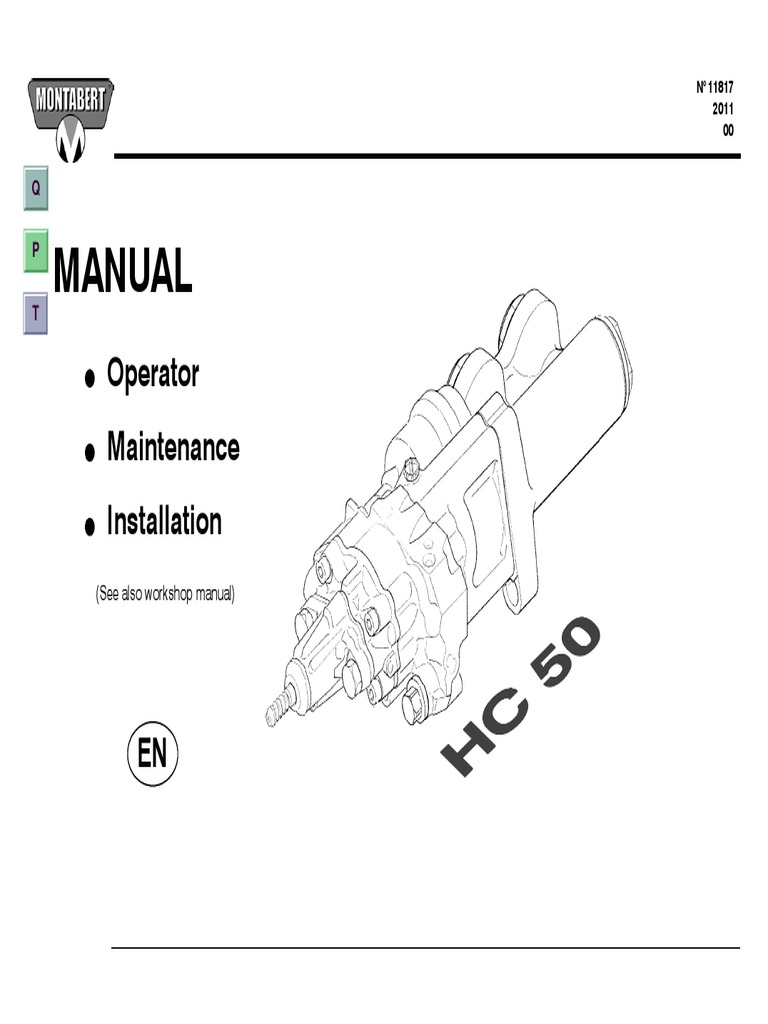 Manual: Operator Maintenance Installation